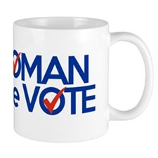i am woman watch me vote Mug