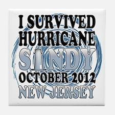 Survived Hurricane Sandy New Jersey Tile Coaster