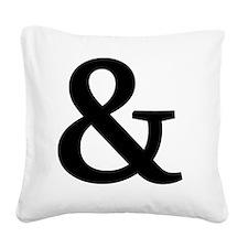 Vintage Ampersand Square Canvas Pillow