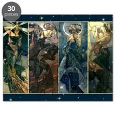 Alphonse Muchas Star, Night, Moon, Morning Puzzle
