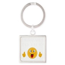 I say YES to LIFE Square Keychain
