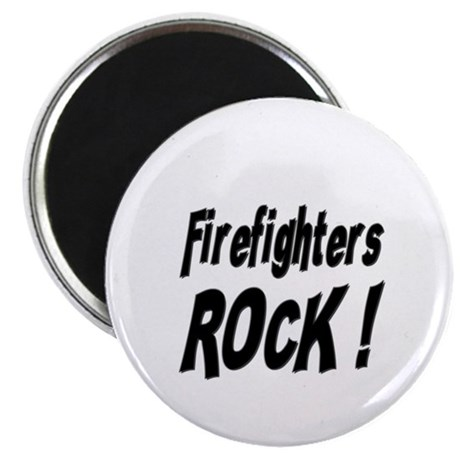 """Firefighters Rock ! 2.25"""" Magnet (100 pack)"""