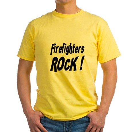 Firefighters Rock ! Yellow T-Shirt
