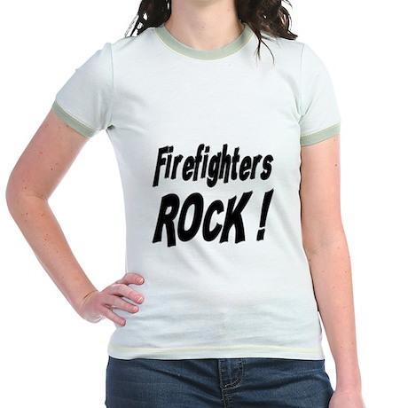 Firefighters Rock ! Jr. Ringer T-Shirt