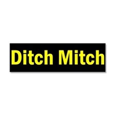 Ditch Mitch Car Magnet - Yellow