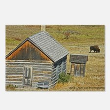 Cabin and Buffalo Postcards (Package of 8)