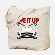 SLS AMG Supercar LIVE IT UP Tote Bag