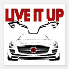 "SLS AMG Supercar LIVE IT Square Car Magnet 3"" x 3"""