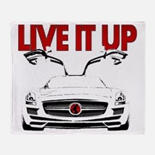 SLS AMG Supercar LIVE IT UP Throw Blanket
