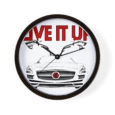 SLS AMG Supercar LIVE IT UP Wall Clock