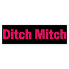 Ditch Mitch Bumper Sticker - Pink