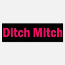 Ditch Mitch Bumper Sticker - Pink