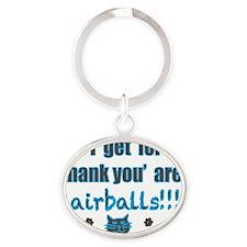 hairballs! Oval Keychain