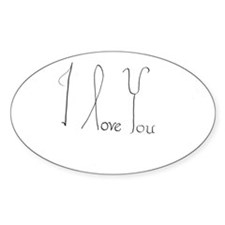 i love you 1 Decal