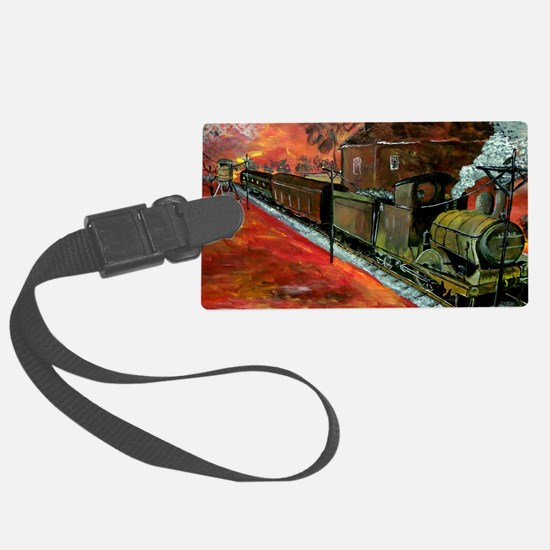Whistle Stop Train Large Luggage Tag