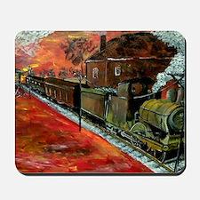 Whistle Stop Train Mousepad