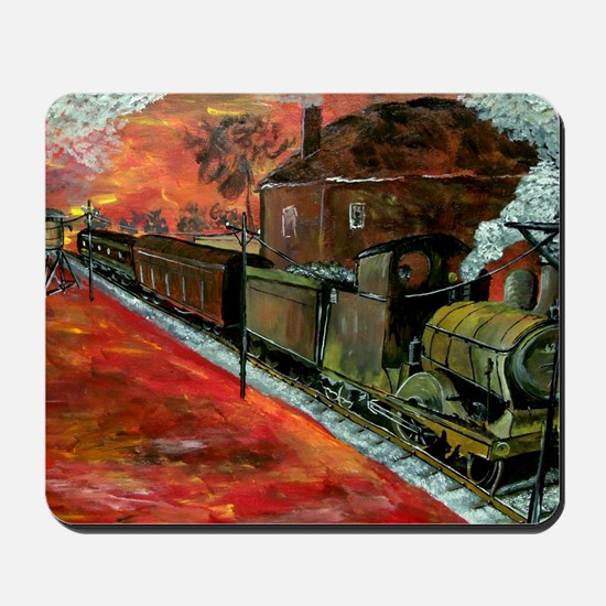 Whistle Stop Train Mousepad