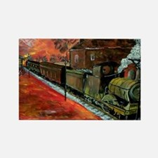 Whistle Stop Train Rectangle Magnet