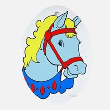 Carousel Horse Oval Ornament