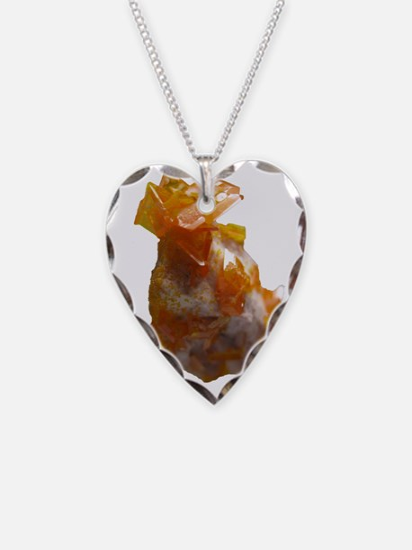 Wulfenite Crystals on matrix Necklace