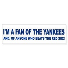YANKEE FAN Bumper Bumper Sticker