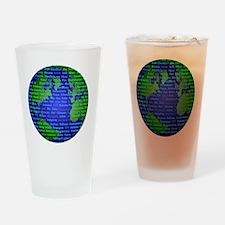 Peace On Earth Arabic Drinking Glass