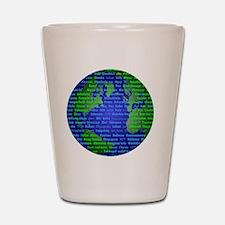 Peace On Earth Arabic Shot Glass