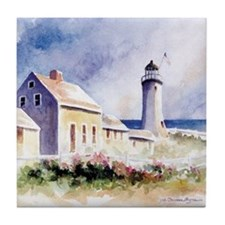 Scituate Light Roses Square Tile Coaster