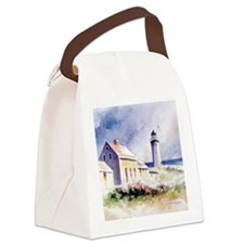 Scituate Light Roses Square Canvas Lunch Bag
