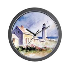 Scituate Light Roses Square Wall Clock