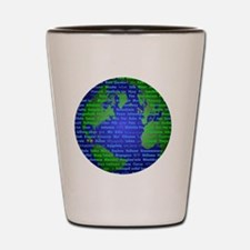 Peace On Earth Mandarin Shot Glass