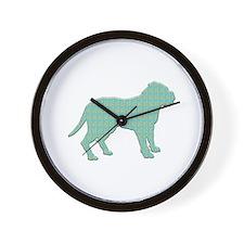 Paisley Dogue Wall Clock
