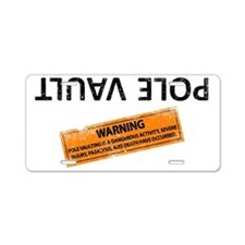 The new pole vault Aluminum License Plate