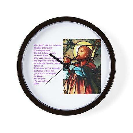 The Lords Prayer Wall Clock