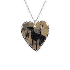 Greyhound Card Necklace