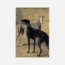 Greyhound Card Rectangle Magnet