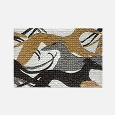 Leaping Hound Bucket Bag Rectangle Magnet