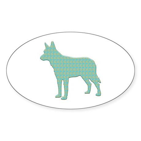Paisley Shepherd Oval Sticker