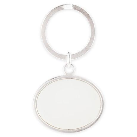 tsoi_logo_w Oval Keychain