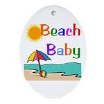 Beach Baby Oval Ornament