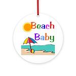 Beach Baby Ornament (Round)