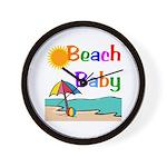 Beach Baby Wall Clock