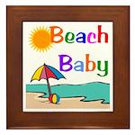 Beach Baby Framed Tile
