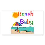 Beach Baby Rectangle Sticker