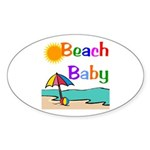 Beach Baby Oval Sticker