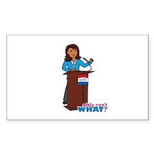Woman Politician Dark Decal