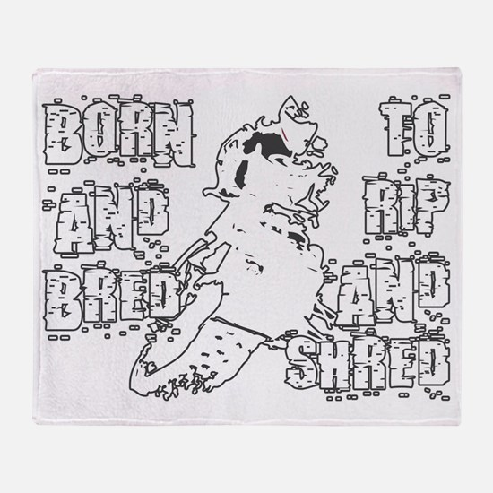 RipAndShredDarkDesign Throw Blanket