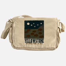 Yellowstone Park Night Sky Messenger Bag