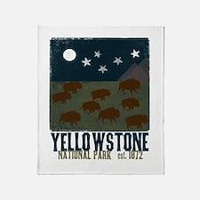 Yellowstone Park Night Sky Throw Blanket