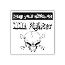 """MMA Fighter Square Sticker 3"""" x 3"""""""